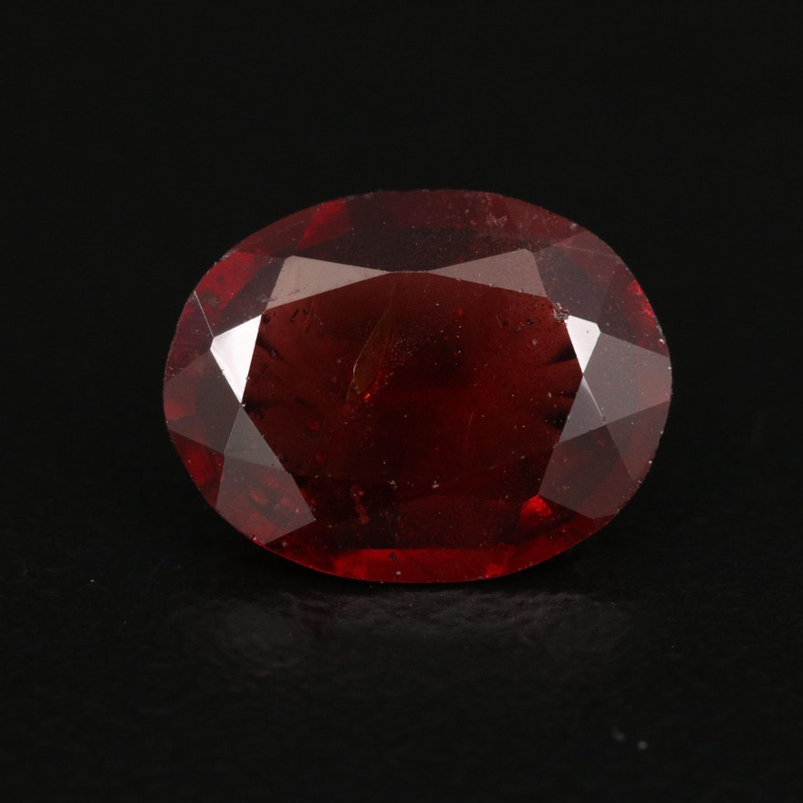 Loose 2.94 CT Oval Faceted Garnet