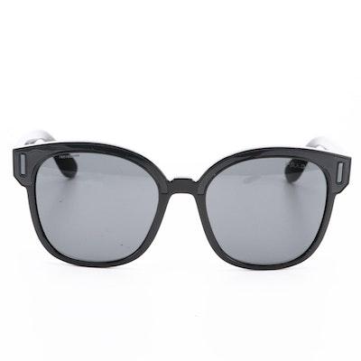 Prada SPR 05U Square Horn-Rimmed Sunglasses