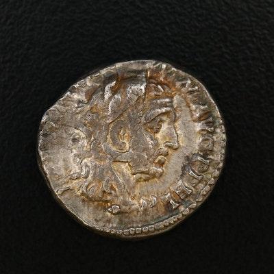 Ancient Roman AR Denarius Od Commodus as Hercules, ca. 191 AD