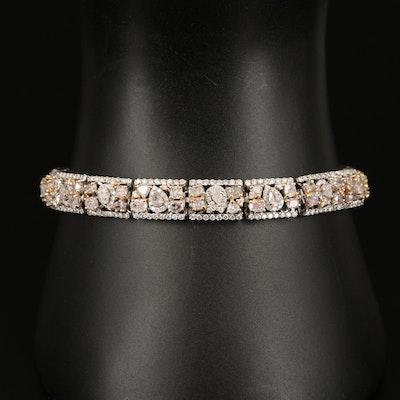 18K 9.01 CTW Diamond Bracelet with GIA Report