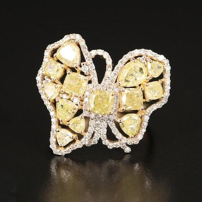 18K 4.17 CTW Diamond Butterfly Ring