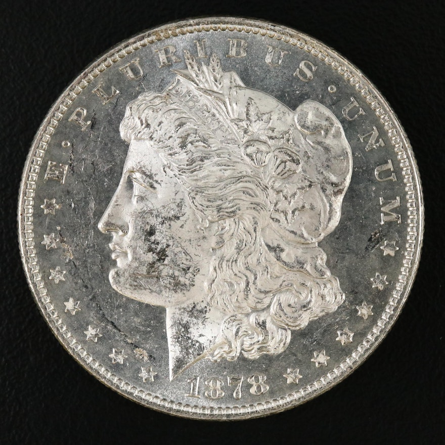 """1878 """"7 Tail Feathers, 2nd Reverse"""" Morgan Silver Dollar"""