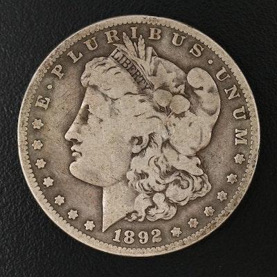 Key Date Low Mintage 1892-S Morgan Silver Dollar