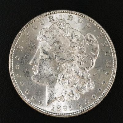 Better Date Uncirculated 1891-S Morgan Silver Dollar
