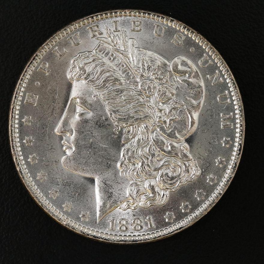 Uncirculated 1881-O Morgan Silver Dollar