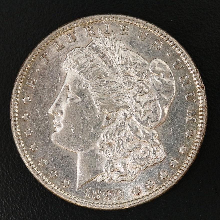 Better Date Lower Mintage 1890-CC Morgan Silver Dollar