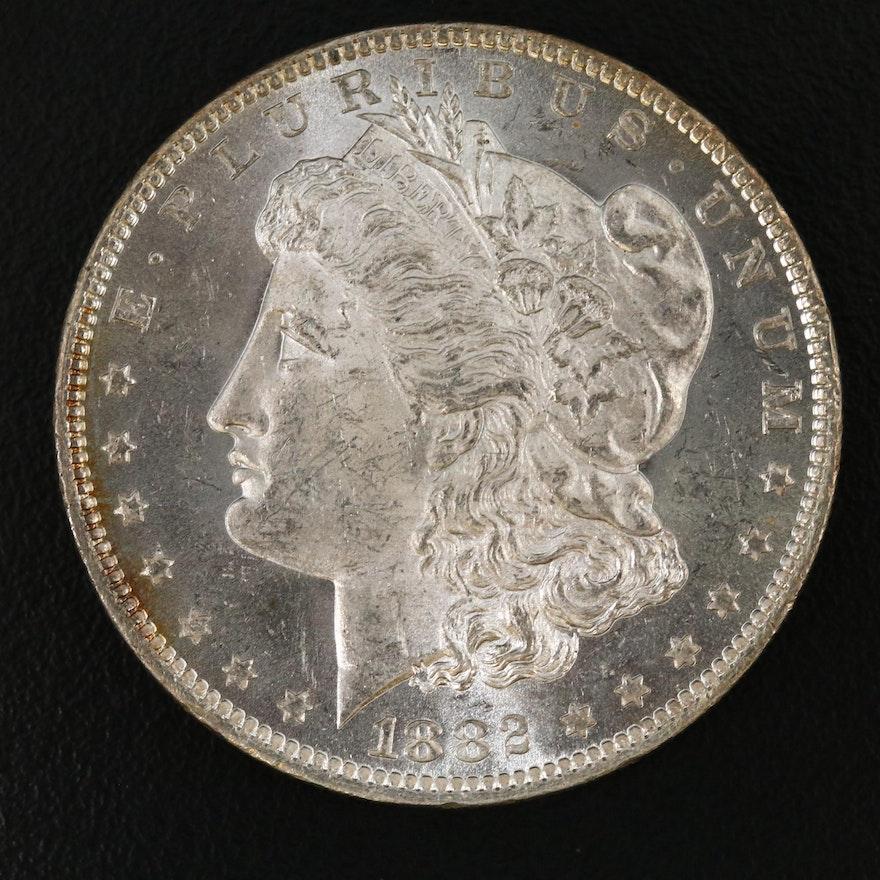 1882-O Uncirculated Morgan Silver Dollar
