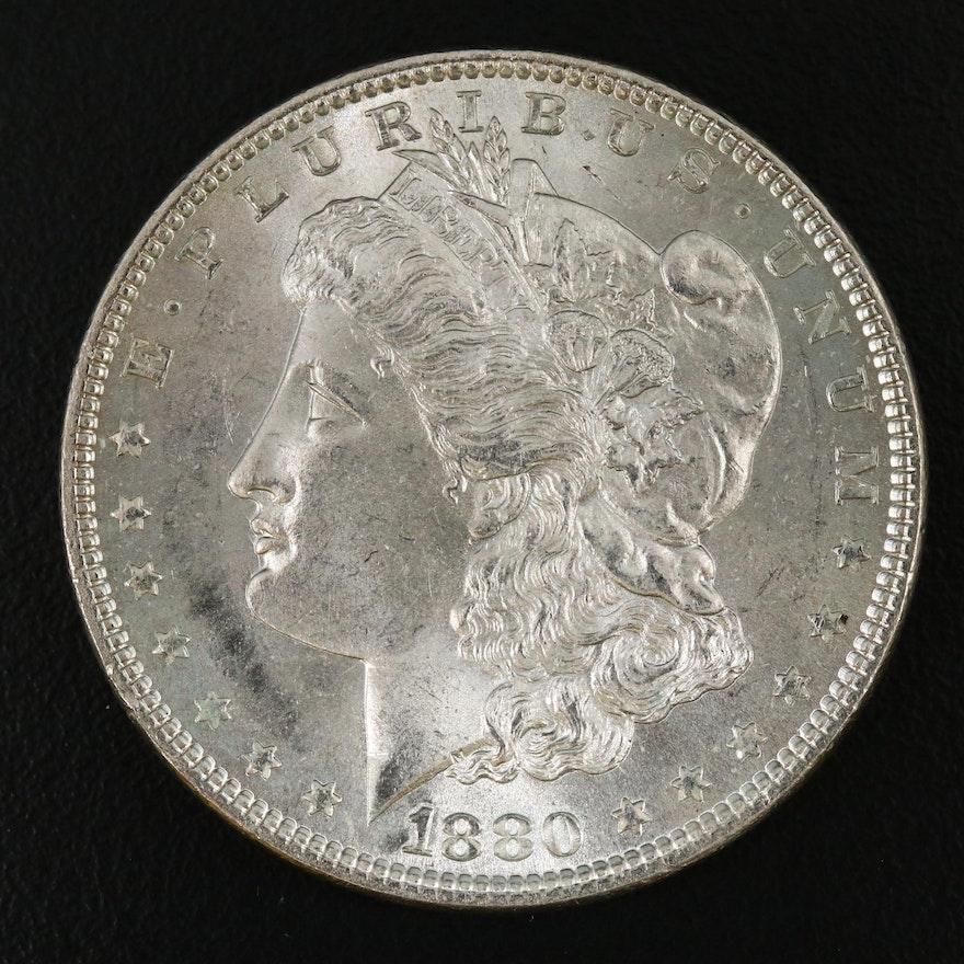 Uncirculated 1880 Morgan Silver Dollar