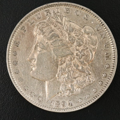 Key Date Low Mintage 1894 Morgan Silver Dollar