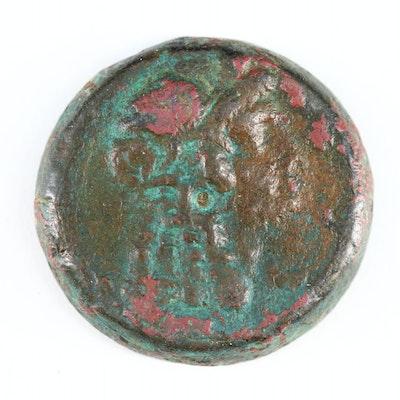 Ancient Egyptian AE Tetradrachm Of Cleopatra I Under Ptolemy V, 205–180 AD