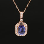 EFFY 14K Tanzanite and Diamond Milgrian Pendant Necklace