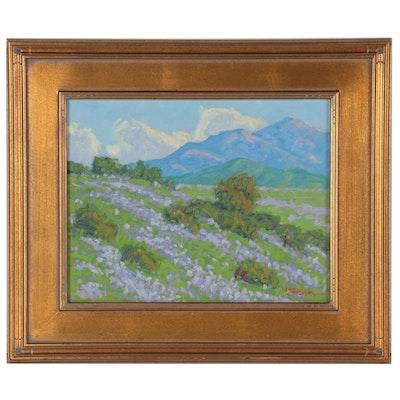 """Marc A. Graison Oil Painting """"Rolling Lavender,"""" 2021"""