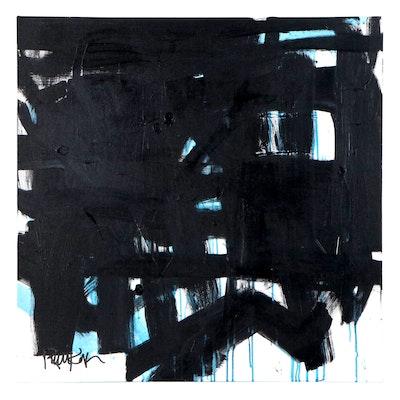 "Robbie Kemper Acrylic Painting ""Blue Runs Under"""