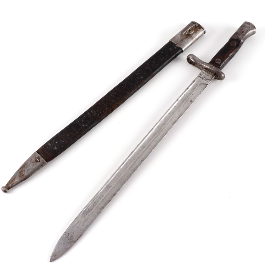 Spanish Mauser Bayonet with Scabbard