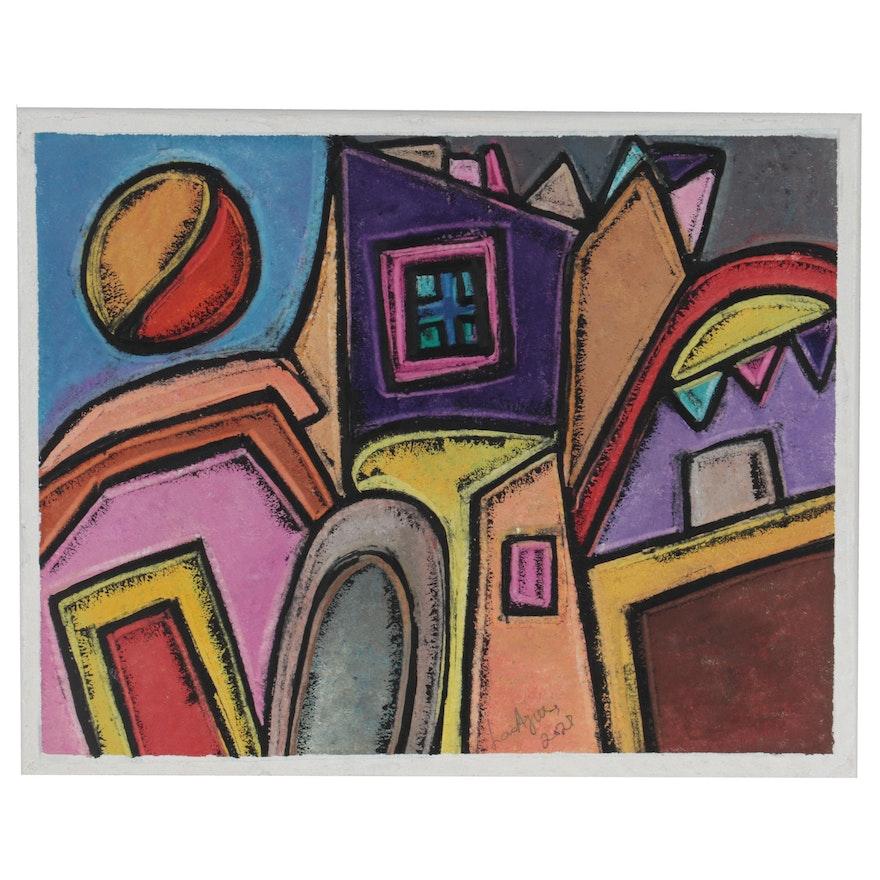 "Lanre Ayuba Acrylic Painting ""City View"""