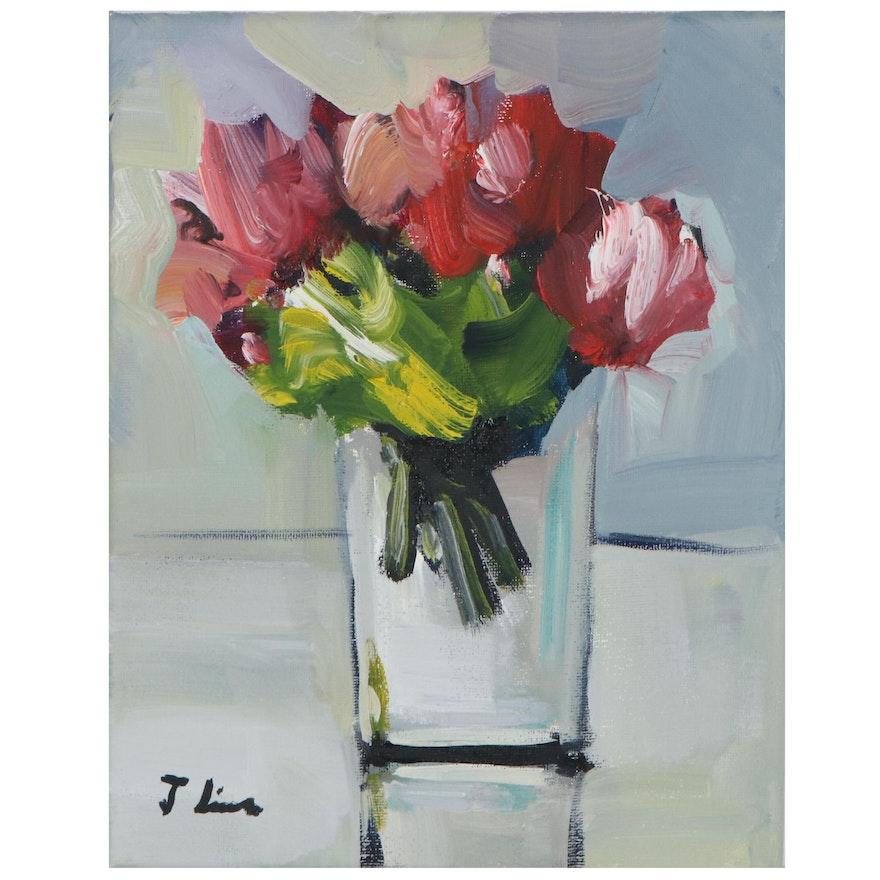 José Lima Floral Still Life Oil Painting, 2021