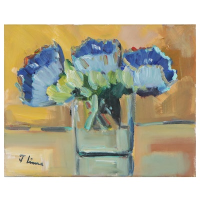 Jose Lima Floral Still Life Oil Painting, 2021