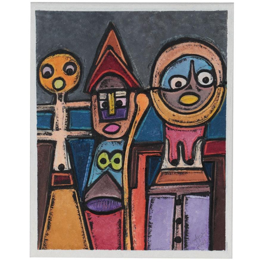 "Lanre Ayuba Acrylic Painting ""Winners"""