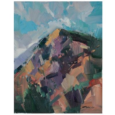"Jose Trujillo Oil Painting ""Heaven's Gate,"" 2021"