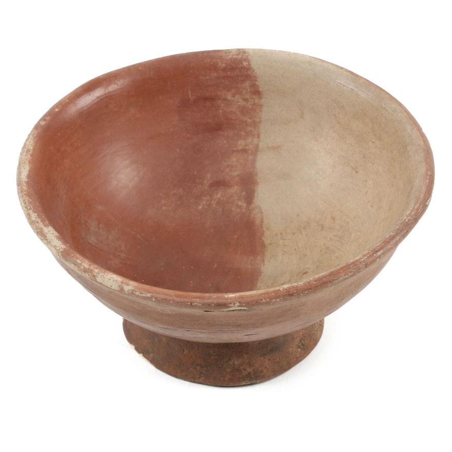 Carchi Slip-Glazed Ceramic Pedestal Bowl, Pre-Columbian Ecuador