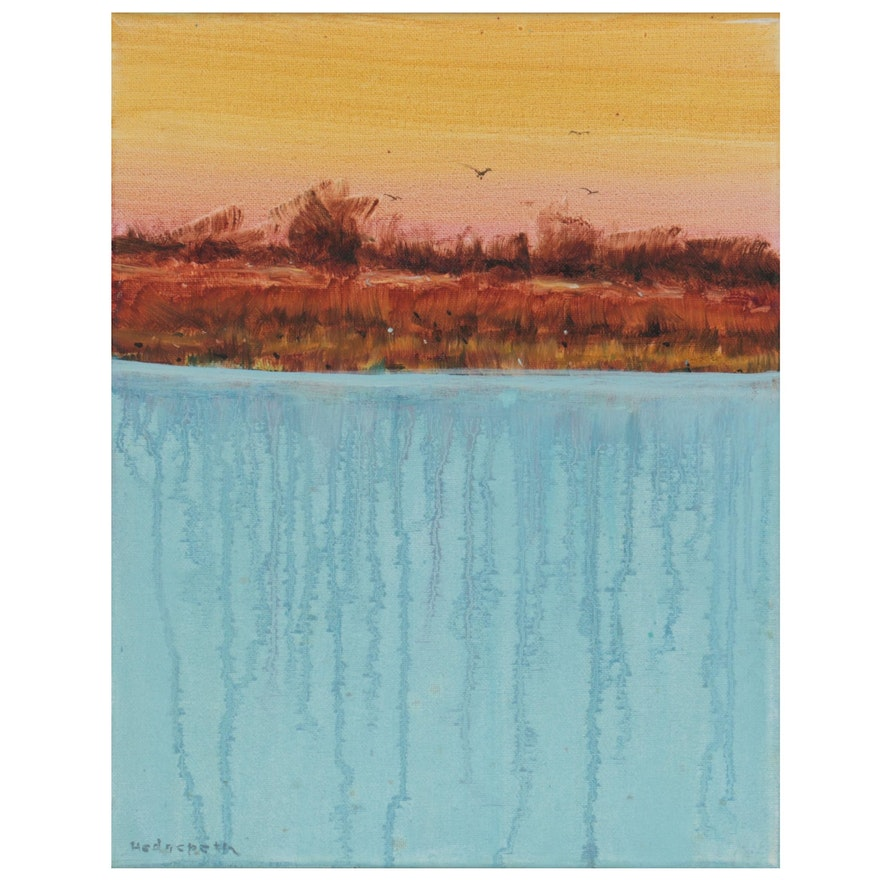 Stephen Hedgepeth Abstract Landscape Oil Painting