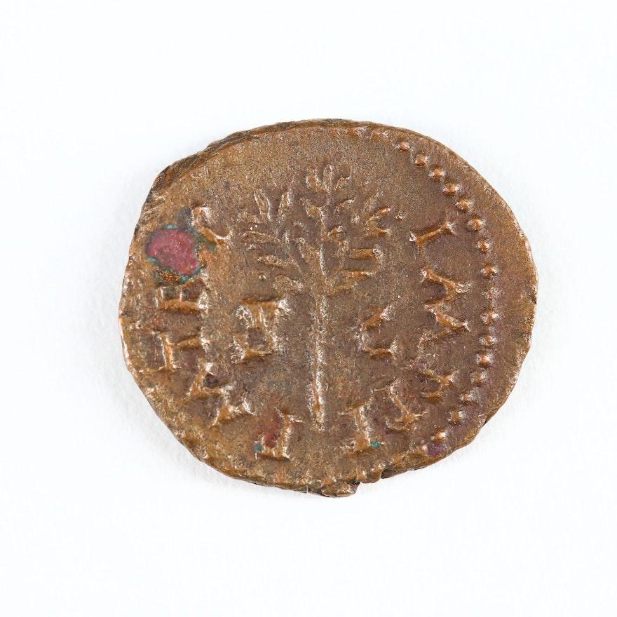 Ancient Roman Imperial AE Quadrans Coin of Nero, ca. 54 AD