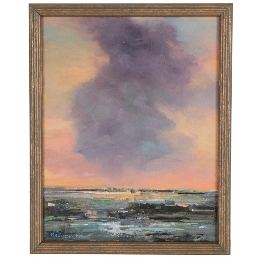 "Stephen Hedgepeth Oil Painting ""Starting to Rain"""