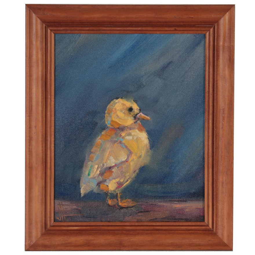 William Hawkins Oil Painting of Chick, 2019