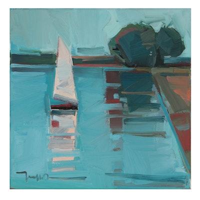 "Jose Trujillo Oil Painting ""Spencer Canyon,"" 2021"