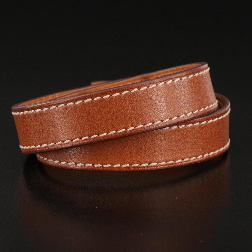 """Hermès """"Kelly"""" Double Tour Leather Bracelet"""