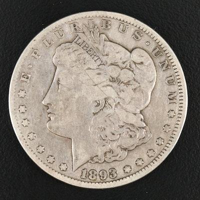 Key Date Low Mintage 1893-CC Morgan Silver Dollar