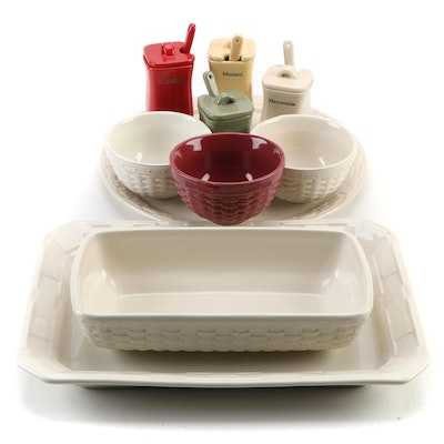 """Longaberger """"Woven Traditions"""" Serveware and Table Accessories"""