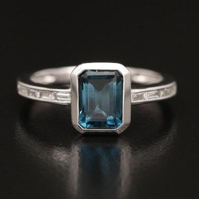 EFFY 14K Topaz and Diamond Ring