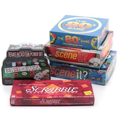 Milton Bradley Scrabble, Mattel Scene It? and Other Board Games
