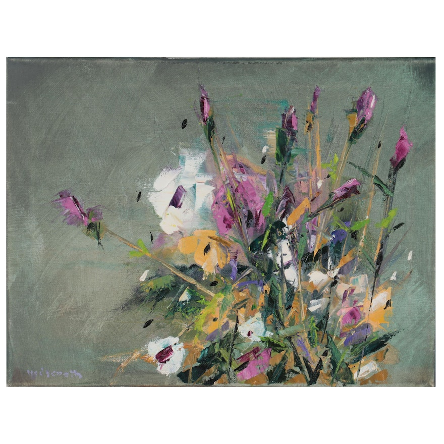 Stephen Hedgepeth Floral Oil Painting, 21st Century