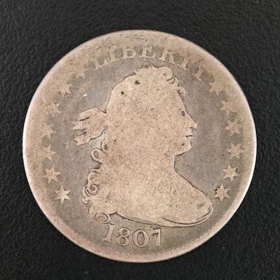 1807 Draped Bust Silver Quarter