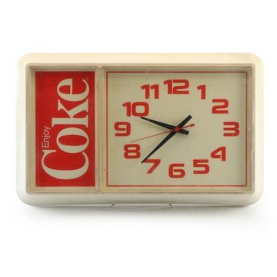 "Ridan Displays Inc. ""Enjoy Coke"" Electric Wall Clock, 1980s"