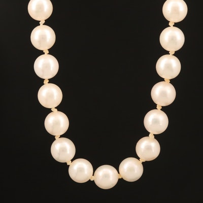 Princess Length Strand of Pearls with 14K Clasp