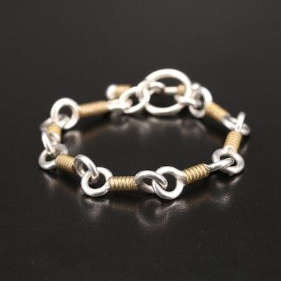Mexican Modernist Sterling Link Bracelet
