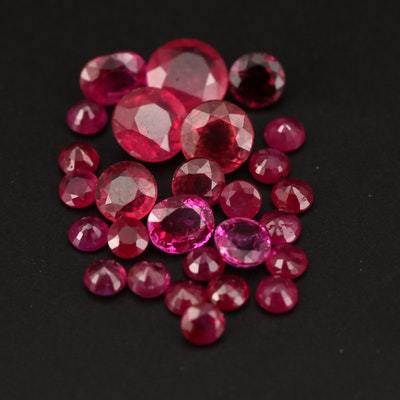 Loose Round and Oval Faceted Corundums