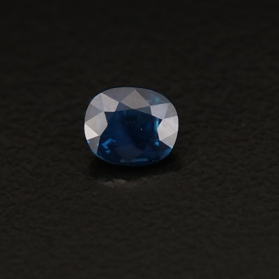 Loose 0.75 CT Oval Faceted Sapphire