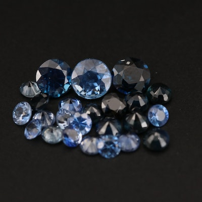 Loose 3.42 CTW Round Faceted Sapphires