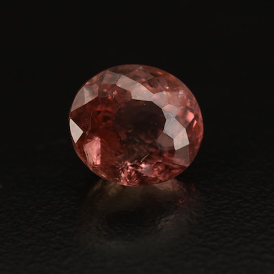 Loose 4.22 CT Oval Faceted Tourmaline