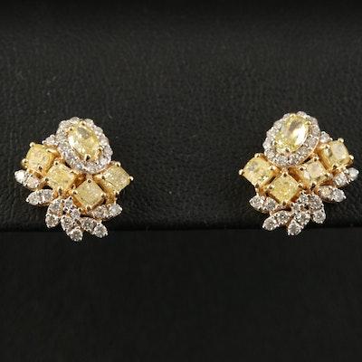 18K 2.39 CTW Diamond Earrings
