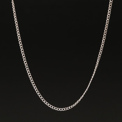 10K Curb Link Chain Necklace