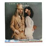 CSN&Y, John Mellencamp, Leon Russell Autographed Vinyl LP Records with COAs
