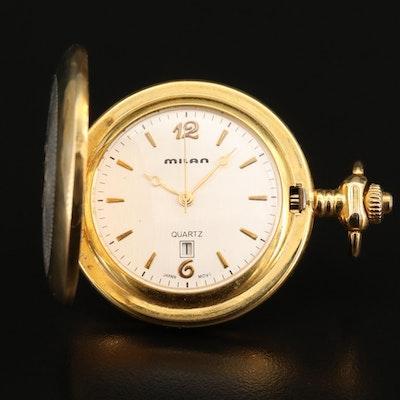 Milan with Date Quartz Pocket Watch