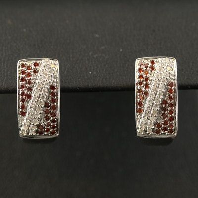 14K 1.03 CTW Diamond J-Hoop Earrings