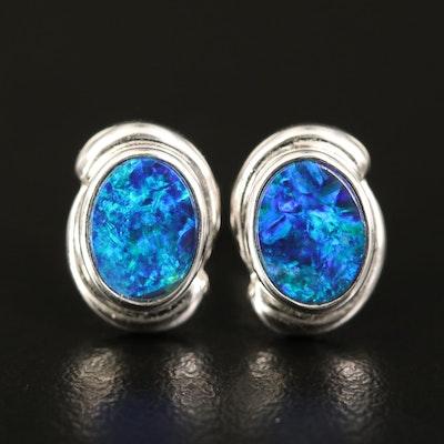14K Opal Doublet Stud Earrings