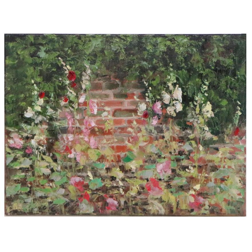 """Garncarek Aleksander Oil Painting """"Malwy"""""""